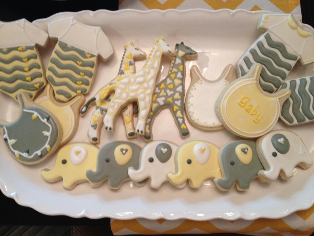 Chevron Baby Shower Cookies