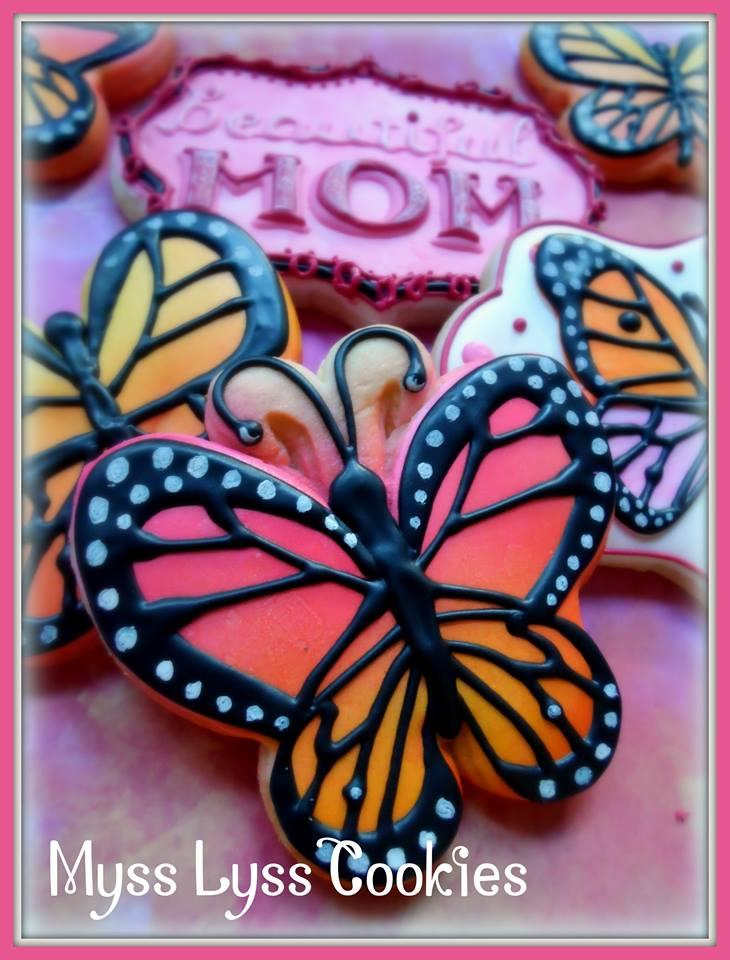 Beautiful Butterfly for Mom - Myss Lyss Cookies