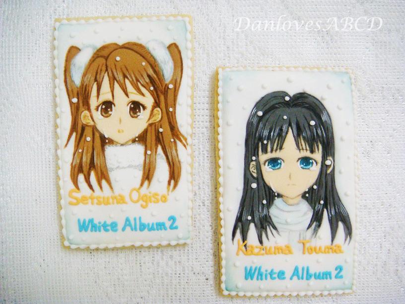 White Album 2 Anime Characters : Japanese anime quot white album character cookies cookie