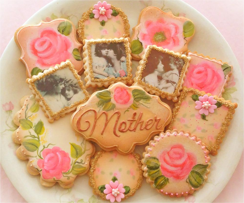 Shabby Chic Mother's Day Cookies