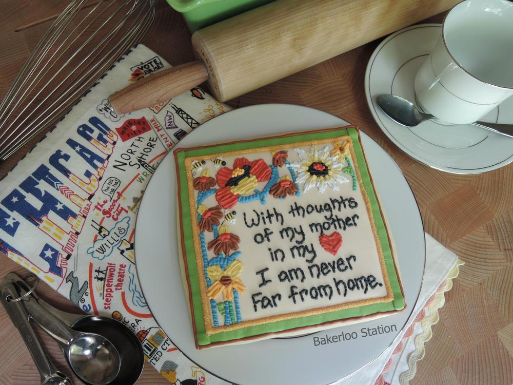 Crewel Flowers Plaque - Practice Bakes Perfect Challenge #1