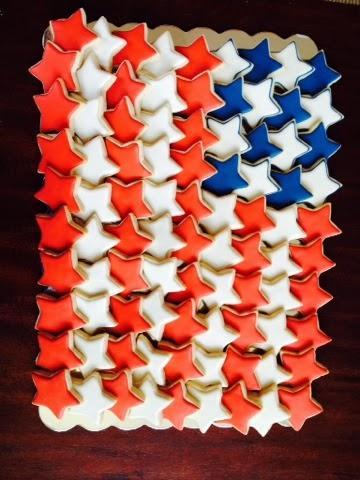 American Flag Cookie Platter