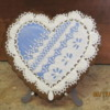 blue gingerbread heart