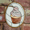 Stained glass cookie: Cupcake