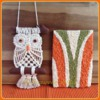 Macrame Owl and Shag Rug