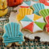 Beach Umbrella and Chair Cookies