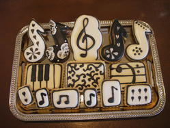 Music Themed Cookies