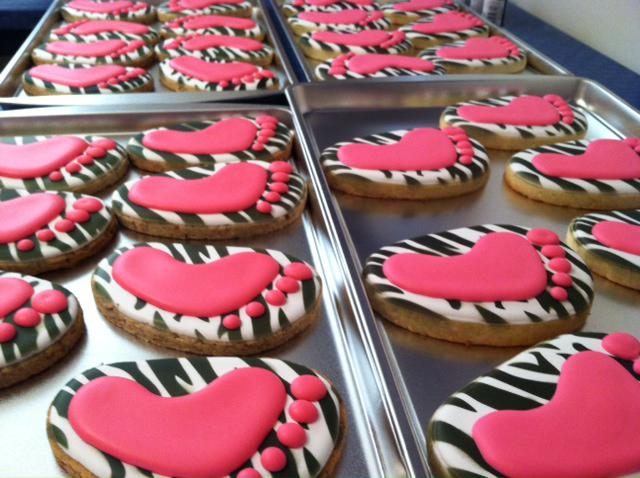 Baby Shower Zebra Print Cookie Connection