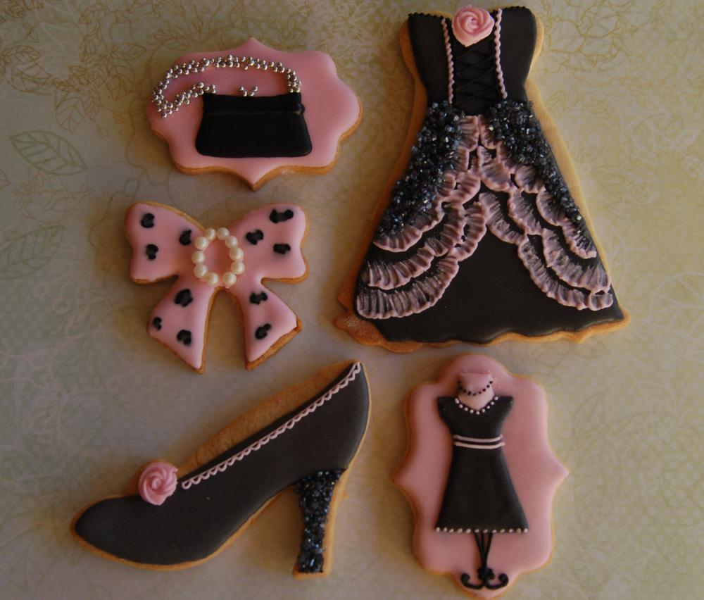 fashion themed cookie set