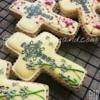 Christening cross cookies