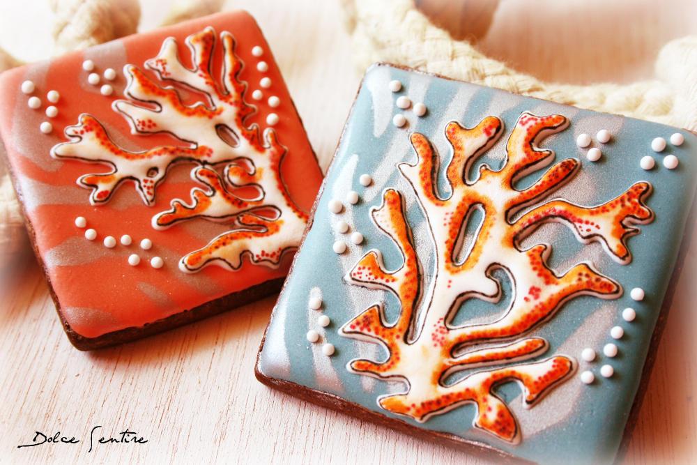 Navy Cookies: Coral