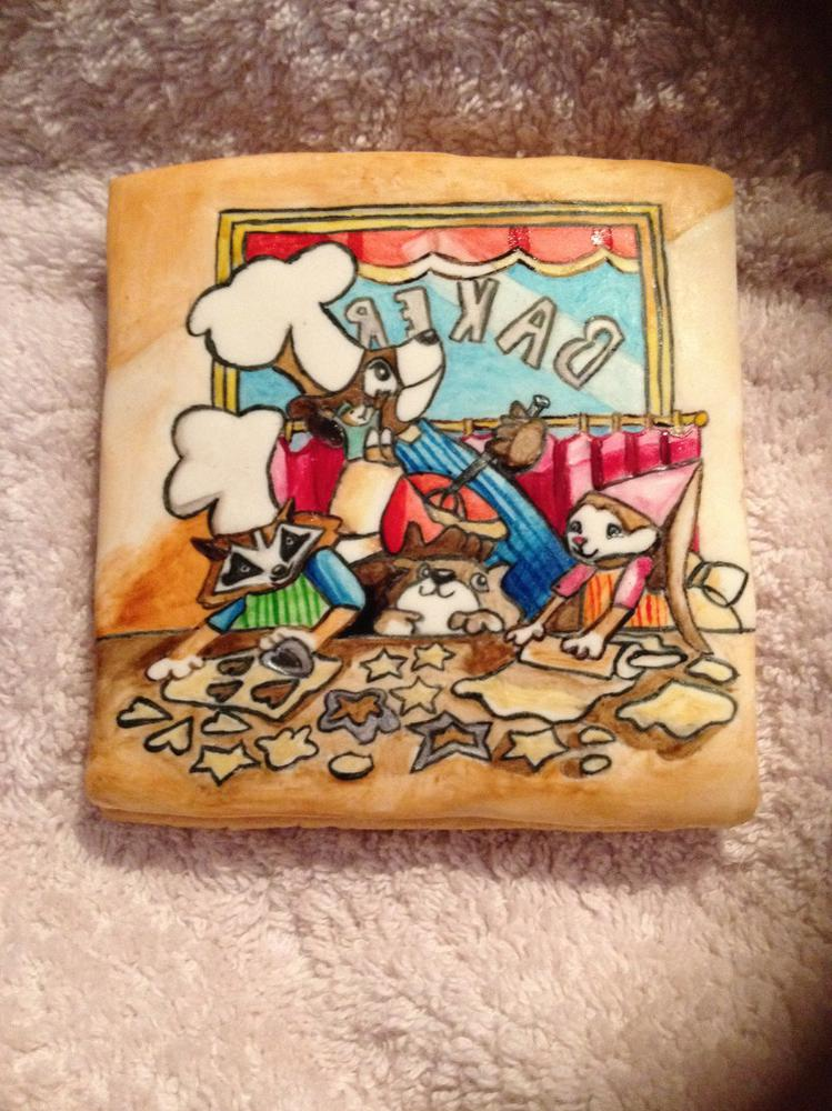 Hand made painted cookie