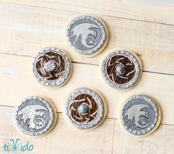 Viking Shield Cookies