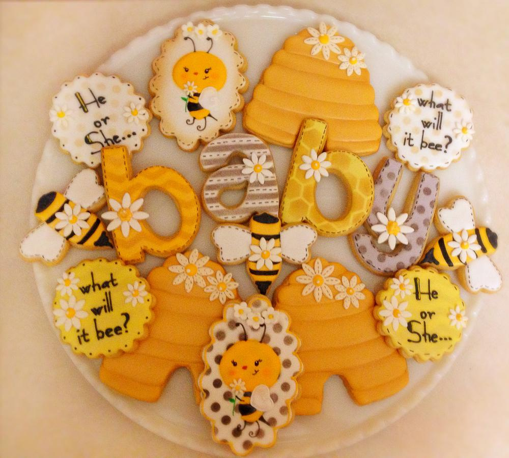 What Will It Bee Gender Reveal Baby Shower Cookies