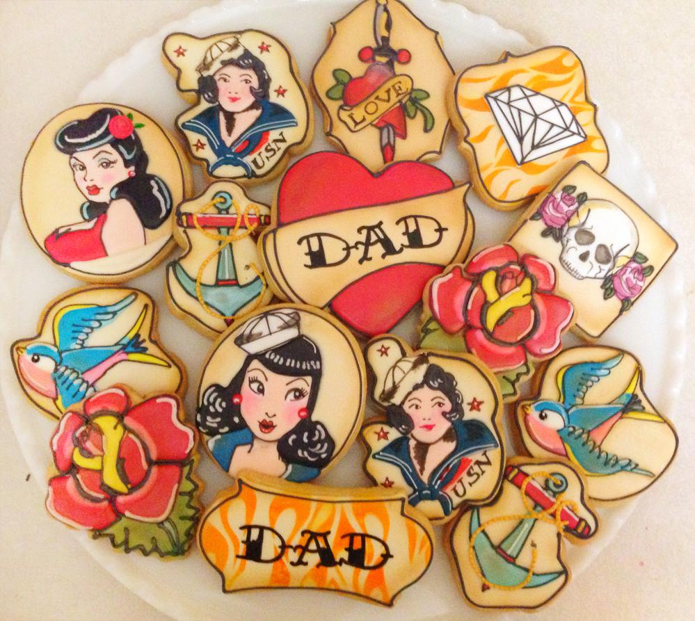 Vintage Tattoo Flash Art - Fathers' Day Cookies