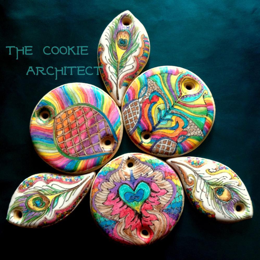 Rainbow Dust Peacock | The Cookie Architect
