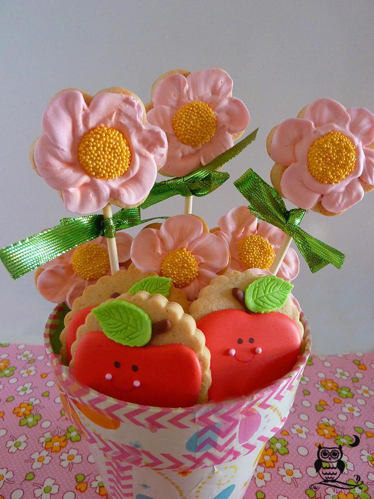Flores y manzanas en maceta cookie connection - Flores de maceta ...