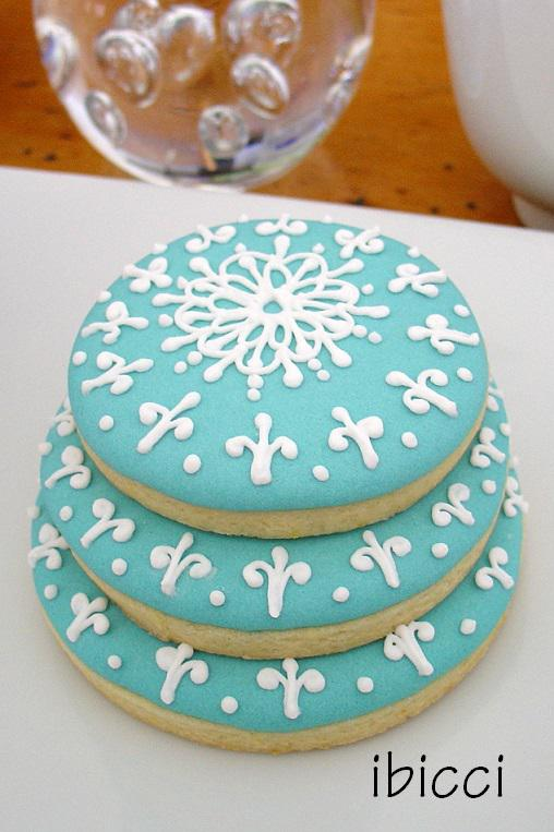 Blue Wedding Cookie Cake