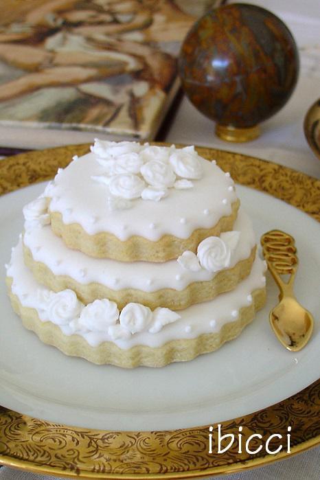 White Wedding Cookie Cake