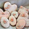 "Wedding cookie's set ""Coral love"""
