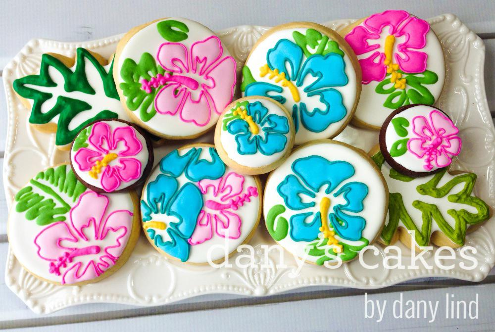 Hibiscus Flowers By Danys Cakes Cookie Connection