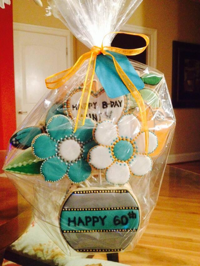 Happy 60th Birthday Cookie Bouquet Cookie Connection