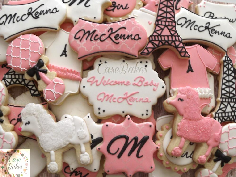Paris Theme Baby Shower Cookie Connection