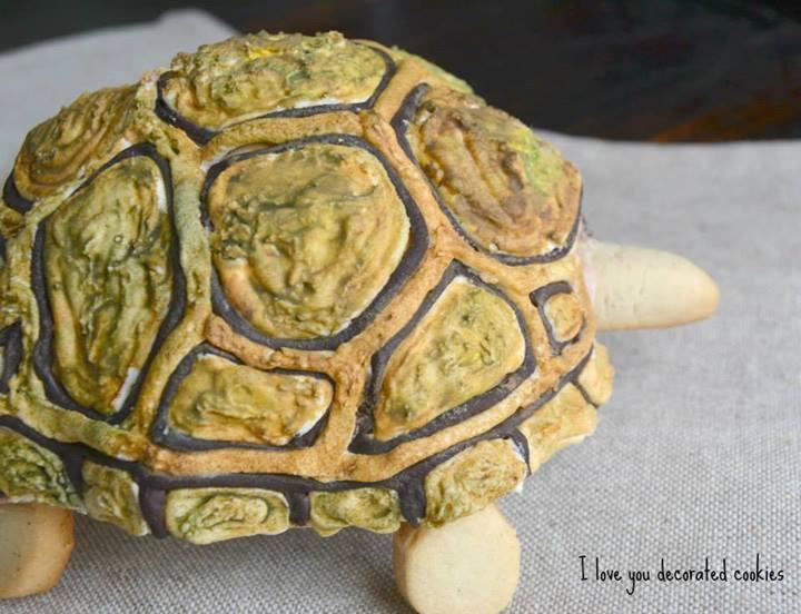 3D turtle cookie