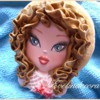 Summer doll cookie