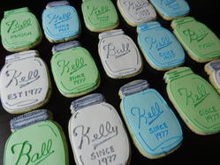 Ball Jar Birthday Cookies
