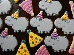 Birthday Hippos on Parade