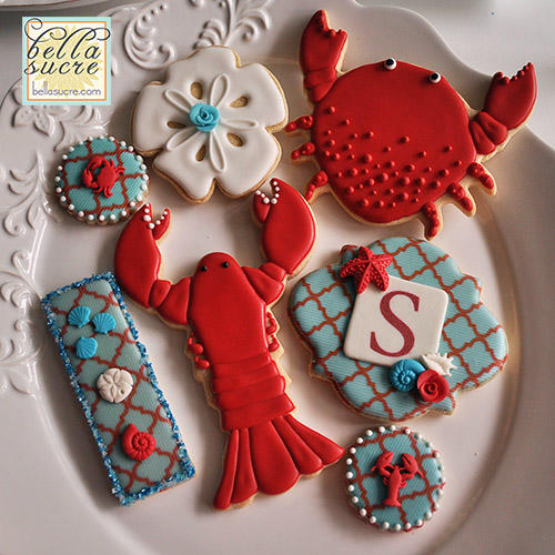 Lobster, Crab and Sea-Themed Cookies