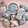 Baby-boy  shower cookies
