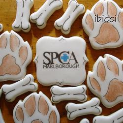 Paws, bones and SPCA logo