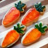 Hand painted carrot cookies