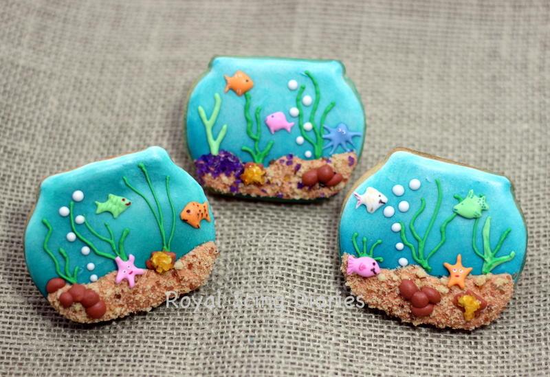 Fun fish tank cookies