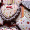 Provencal fabric cookies