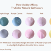 Effect of Acidity on TruColor Colors: Photo/Graphic by Julia M Usher