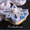 Wafer paper and royal icing cookie