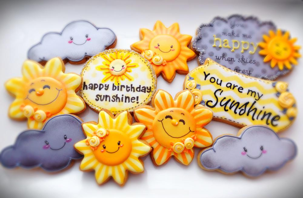 """You Are My Sunshine""-Themed Cookies"