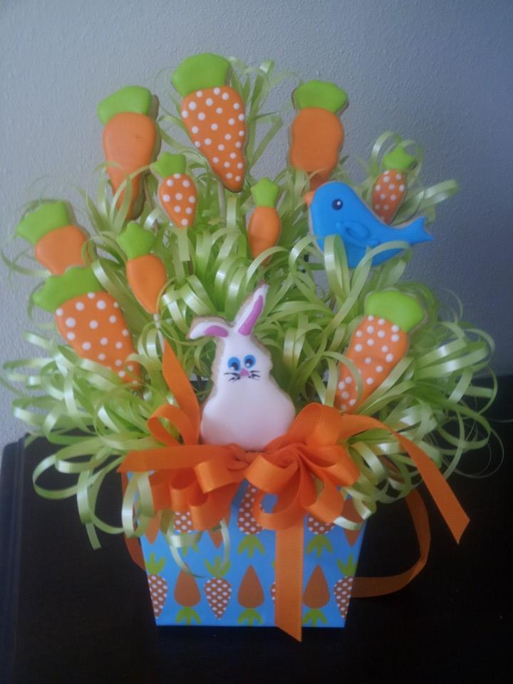 Basket of Carrots for Easter