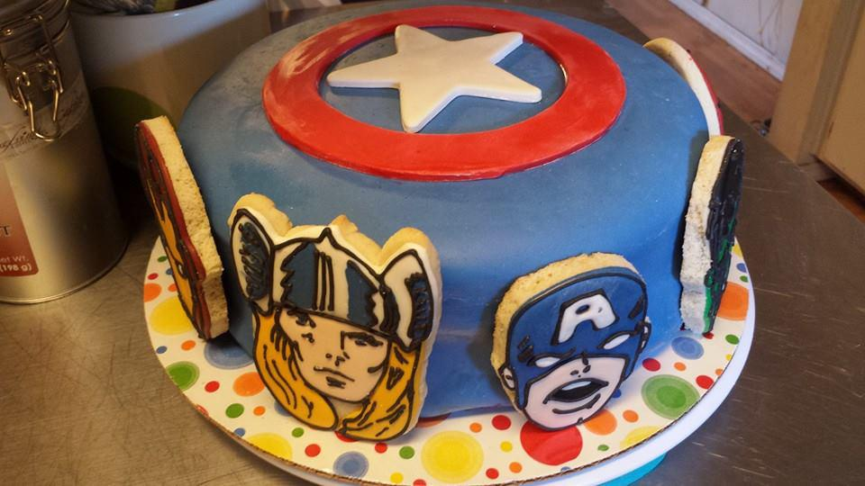 Avengers Cookies For A Superhero Cake Cookie Connection