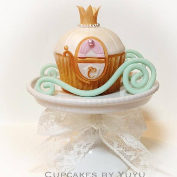Cinderella coach cupcake