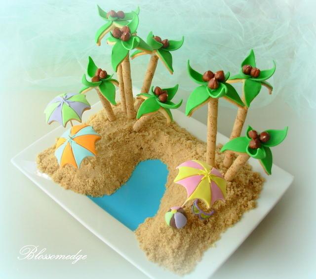 "Beach cookie ""platterscape"""