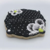 Black & White Polka Dot Flower
