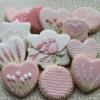 Floral bird cookies