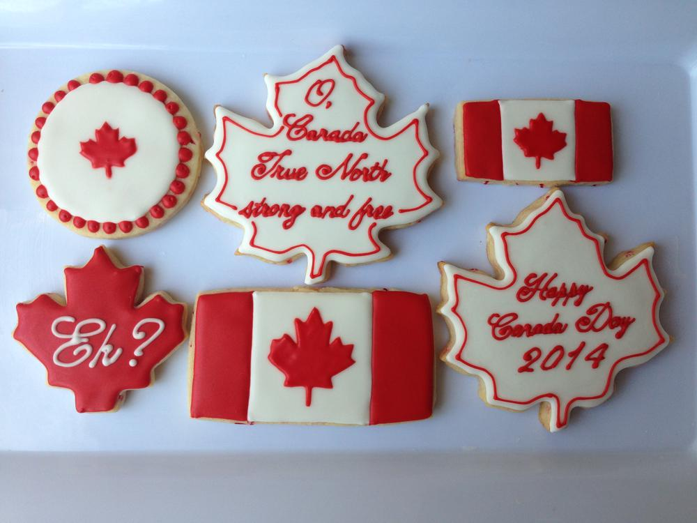Canada Day Cookies 2014 Cookie Connection