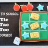 Back to school Tic-Tac-Toc cookies by Melissa Joy