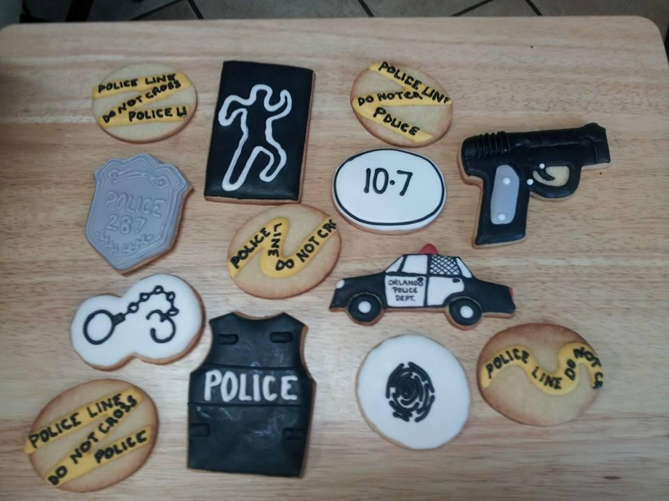 Police Retirement Cookies Cookie Connection