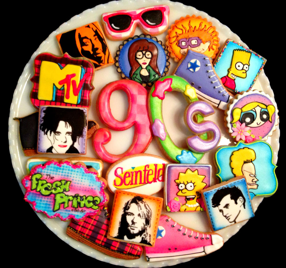 90's Themed Cookies